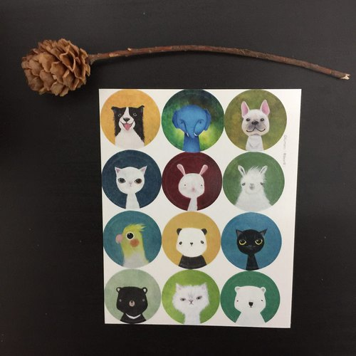 2018 Wu Xu Wang years - animals like paint stickers animal portraiture Sticker
