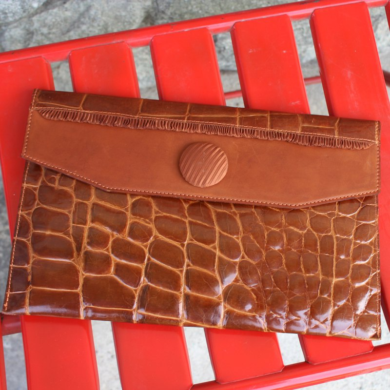 Made in Italy TERRANOVA Brown Vintage Clutch