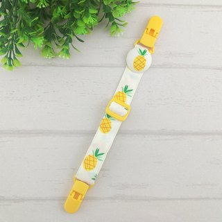 Fruit Party-5 is optional. Adjustable length handkerchief clip
