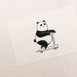 Panda ride-Canblue Universal Card