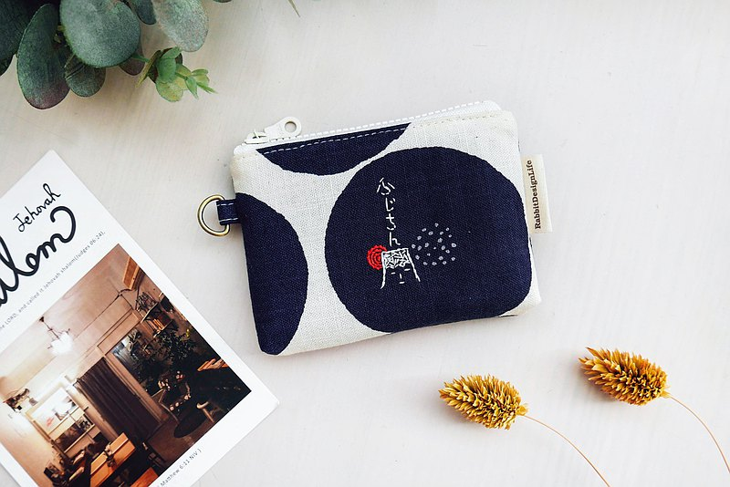 BAG-Fireworks Embroidered Coin Purse under Mount Fuji