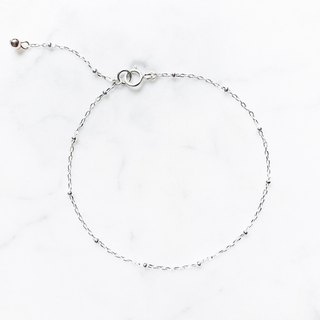 ::Silver Christmas :: Mini Silver Ball Very Fine Bracelet