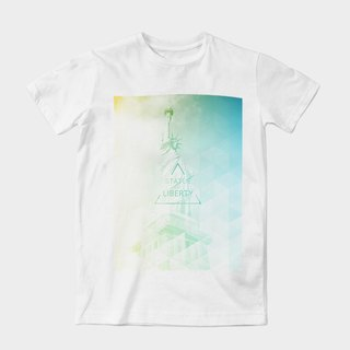 Neutral short-sleeved T-Shirt | free boldness by dragging artwork Wang | Z999UT022