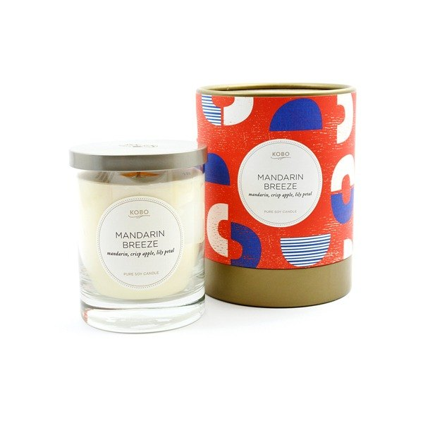 [KOBO - US soybean oil candles - sweet and sour taste (330g / combustible 80hr)