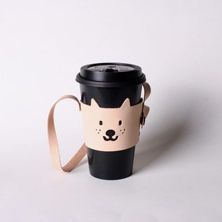 Small dog environmental protection cup set coffee drink leather bag hair child