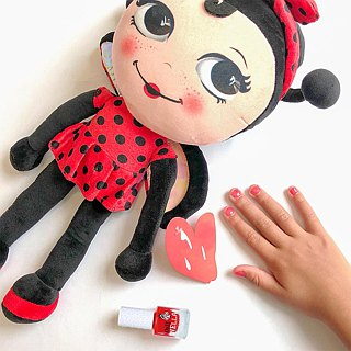 British [Miss Nella] children's water-based tear-proof safety nail polish - Joker Solanum (MN22)