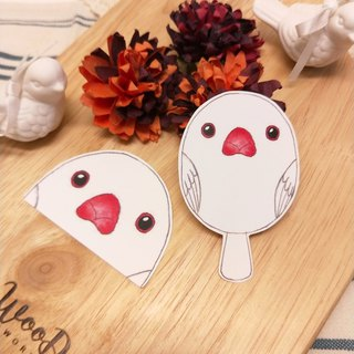 Rolia's hand made white bird waterproof stickers