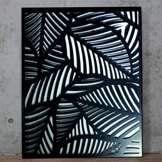"【OPUS Metalart】Wall Mounted Painting - ""Tropical Style Banana Leaves"" shape"