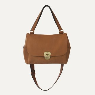 [Bleu de Chauffe] JUNE BAG leather bag _Gold / light camel