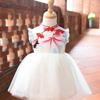Cheongsam modified dress small goldfish
