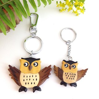【Handmade Wooden Owl Key Ring / Charm】 ✦ February