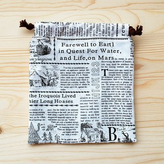 Cloth newspaper pocket (large)