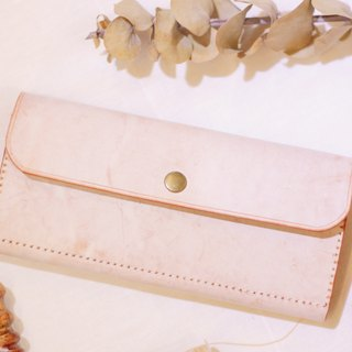 Make Your Choicesss Italian hand rub wax leather women's long wallet