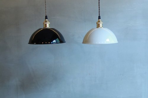 [Melon] cattle system selected group metal shade black / beige - semicircle