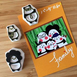 Handmade JX Panda Day and Mini Seal Set [Panda Love Mom and Dad]