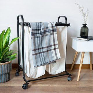 LIGFE Heavy Duty 2-Bag Laundry Sorter Cart
