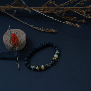 [Natural Stone Series] Black Onyx and lava stone with silver accesories,gift