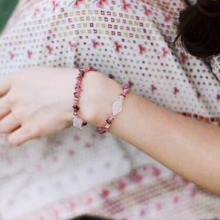 """Breath"" KOAN red tourmaline lychee jelly South Red Agate Bracelet"