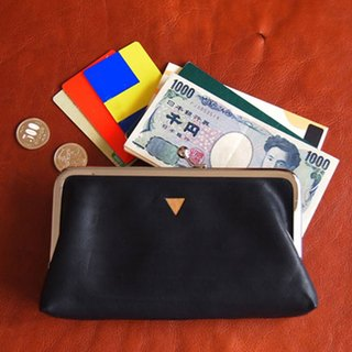 Triangle Long Wallet / Hamaguchi Long Wallet Black Leather