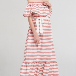 SUMMER DRESS / Peach Stripe