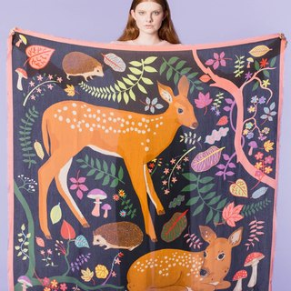 Flora and fawns oversized cashmere blend scarf