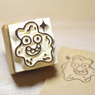 Cute bacteria Mr. handmade rubber stamp