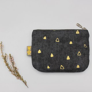 Pingle Small Wallet - Golden Triangle Starry (Japanese Style Hot Stamping)