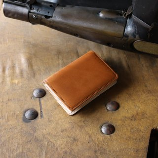 日本製造 栃木皮革製作 牛皮 名片夾 名片盒 鞍褐 made in JAPAN handmade leather card case
