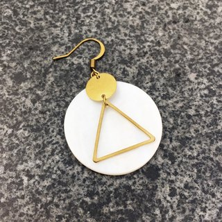 Can change the folder type - geometric brass shell earrings - sweet secret code - a single branch