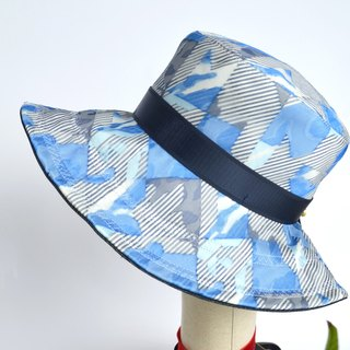 Twisted tattoo geometric wide-brimmed hat