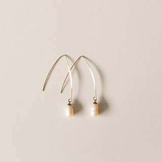 Febbi Draped Pearl Earrings