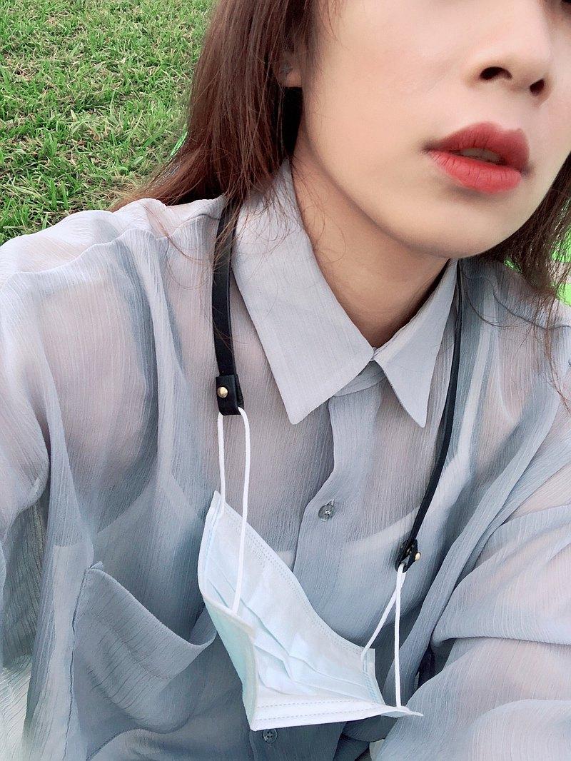 【Stay Healthy 口罩鍊 / 口罩掛繩】經典黑 / 現有防疫價85折