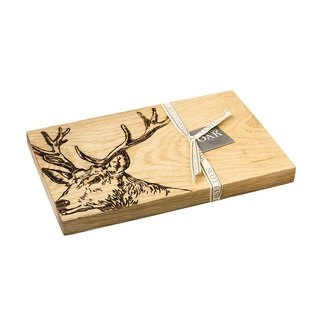 British Scottish Oak oak integrated super thick solid wood cutting board / board / display board (Bucks)
