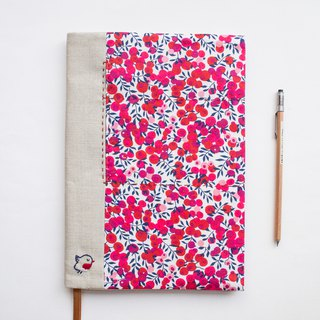 Wiltshire Liberty Print - adjustable A5 bookcover