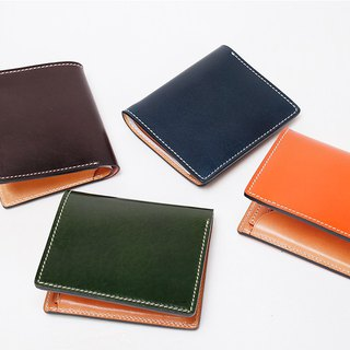New AMEET color colour series vegetable tanned leather short wallet card wallet wallet combo 4 colors