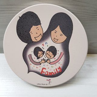 Water Cup Coaster-Family