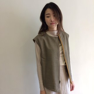 Wool asymmetrical vest