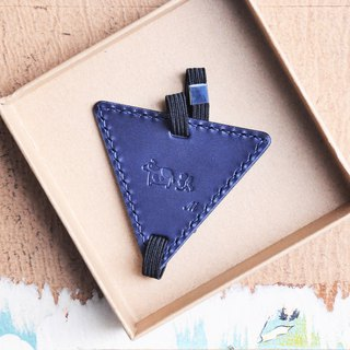 Bookmark leather material bag triangle bookmark Wenqing reading person DIY engraved graduation gift