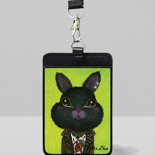 Leather identification card set \ rock rabbit \ plus dog cat cat postcard (random)