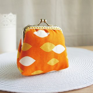 Lovely (Japanese cloth) orange balance diamond large capacity gold bag ‧ purse, orange