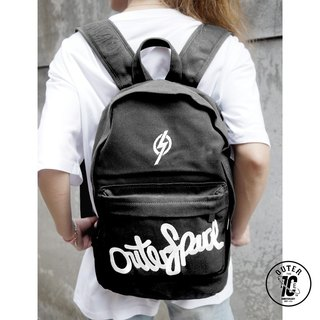 OUTER SPACE 10th Anniversary Space Backpack (Black Silver Embroidery)