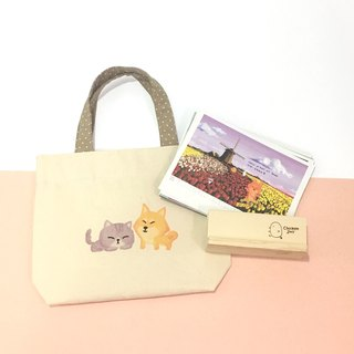 Good bag-2018 Chai dog table calendar + small bag - blessing bag