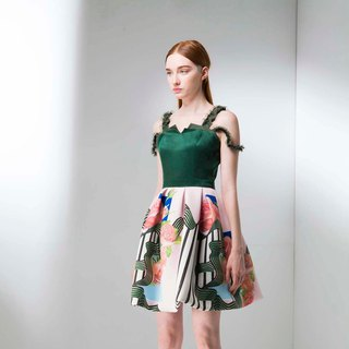 Spring God flower vine dress