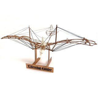 Japan Aerobase Metal Model Assembly Human Aircraft Lilienthal Glider 1894 (1/48)