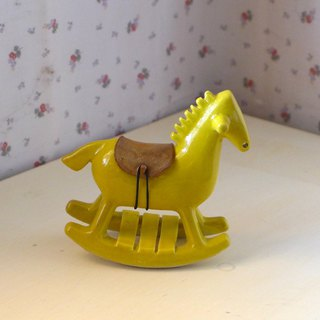 Rocking horse treasure box [yellow] white house ceramic