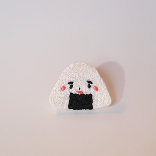 Cute food series I rice balls sister I embroidery deduction needle brooch pin heart pin