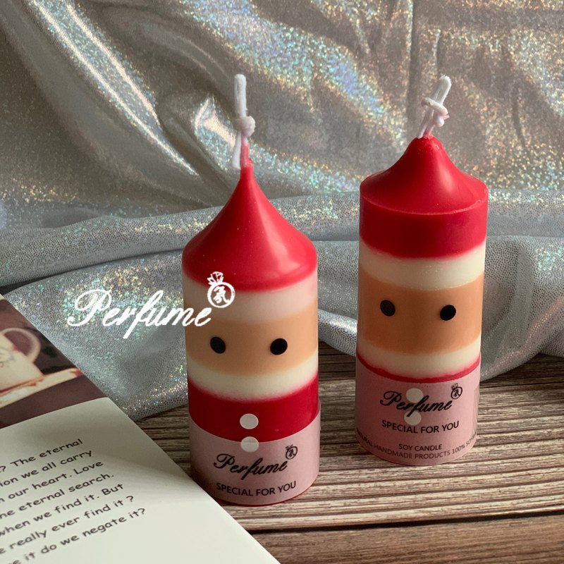 歡樂聖誕老公公香氛蠟燭 雙入附盒裝