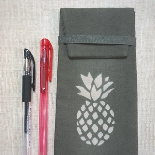 Mumu [vegetation] big leaf Terminalia dye stained dark gray leaf green pencil, glasses bags (pineapple paragraph)