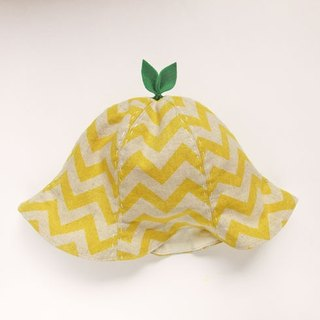 Grow Up! Leaf Hat for Baby & Toddler /ZigZag Yellow