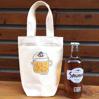 Miniature Cat's Daily Canvas Bag (Ice Dam Cup) Hand-printed Canvas bag